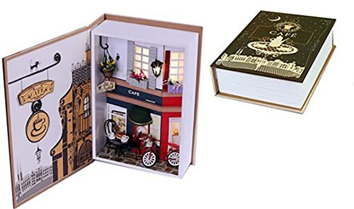 Prefabricated book type cafe dollhouse cute miniature house by Future Network