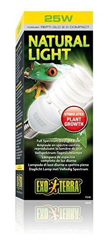 Exo Terra Repti-Glo 2.0 Compact Fluorescent Full Spectrum Terrarium Lamp, 26-Watt (Natural Light)