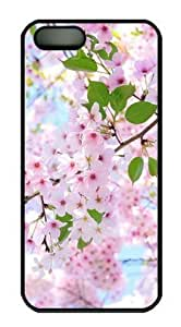 Pink Cherry Blossom-6 For Iphone 5/5S Phone Case Cover PC Material Black-Fits For Iphone 5/5S Phone Case Cover T-Mobile,ATT,Sprint,Verizon and International
