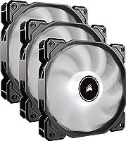 CORSAIR AF120 LED Low Noise Cooling Fan, Triple Pack - White