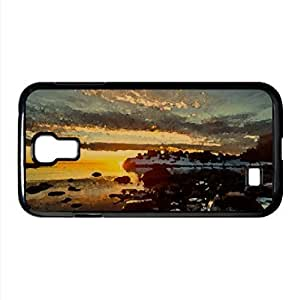 Beautiful Sunset, Winter Watercolor style Cover Samsung Galaxy S4 I9500 Case (Winter Watercolor style Cover Samsung Galaxy S4 I9500 Case)