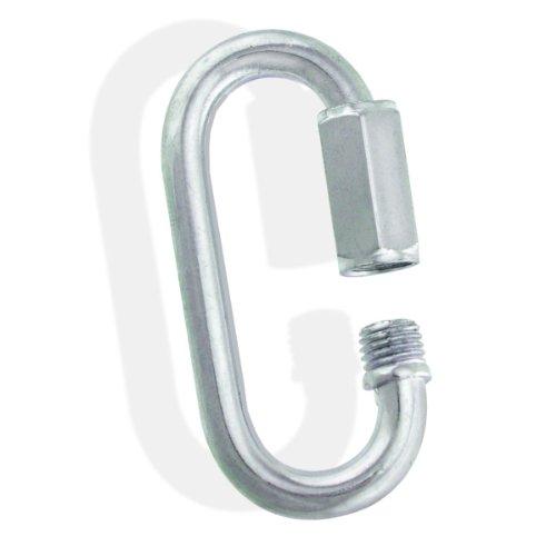 0.125 Link Quick - Zinc Galvanized Steel Quick Links - 1/8