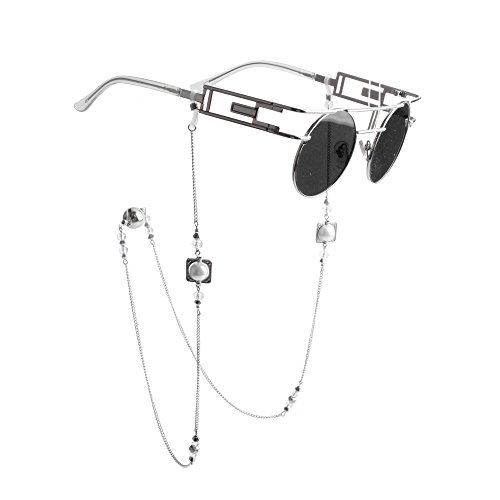 Kalevel® Eyeglass Chain Holders Strap Beaded Glasses Sunglasses Chain Eyeglass Chains and Cords For Women (White) by Kalevel