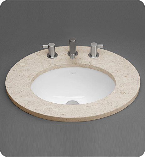 Oval Ceramic Undermount Bathroom Sink with Overflow - Ronbow Oval Ceramic