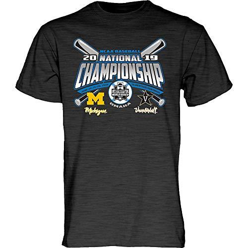 Elite Fan Shop Vanderbilt Commodores Baseball College World Series Champs Tshirt CWS 2019 Charcoal - - National Michigan Champions