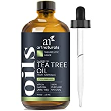 ArtNaturals Tea Tree Essential Oil - 4 oz / 118 ml Pure and Natural Premium Melaleuca Therapeutic Grade - Use with Soap and Shampoo, Face and Body Wash - Treatment for Acne, Lice and Many Skin Conditions