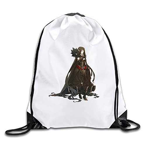 Price comparison product image Fate/Stay Night Voice Actors PlayStation Vita White Drawstring Backpack Sport Bag For Men&women