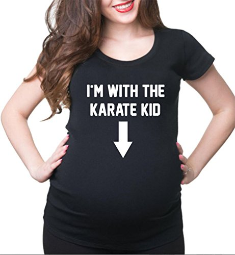 10e9b2bbbd002 HappyBerry Women Maternity T Shirt Funny Karate Graphic Tee