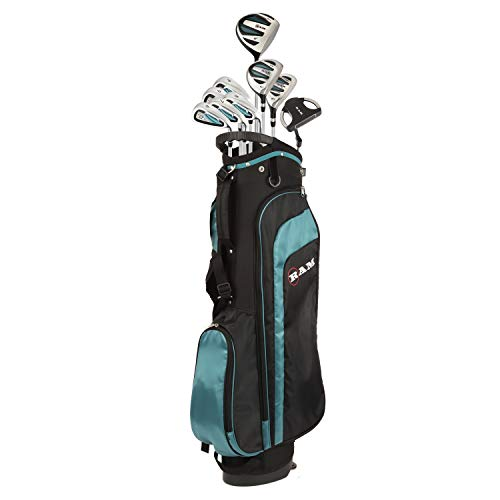 (RAM Golf EZ3 Ladies Petite Golf Clubs Set with Stand Bag - Graphite/Steel Shafts (Graphite/Steel, Right))