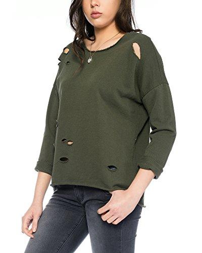 Fashion Flash Fashionflash-Sudadera Mujer Verde