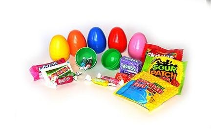 Plastic Easter Eggs with 2 Candy (250 Count) by Gifts Galore Snap Tight Easter Eggs (Image #3)