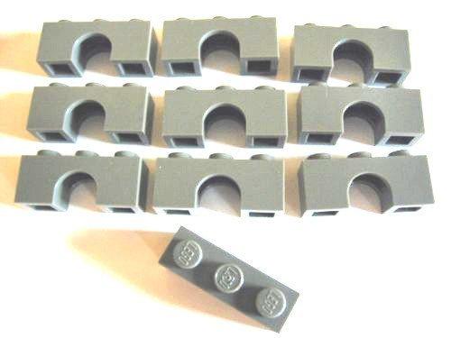 Lego Castle   Dark Bluish Gray Arch 1X3 1 X 3   Lot Of 10 Loose Parts