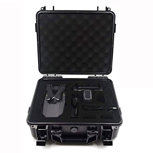 Carrying Case for DJI Mavic Pro Waterproof  Hardshell Suitcase Protect DJI Mavic Pro Foldable Drone Combo and Accessories Such as Remote Control , Extra Batteries , Propellers and More by Hobby-Ace