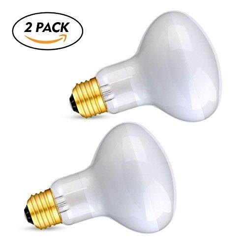 CRLight 100W Basking Spot Lamp UVA Glass Heat Bulb Soft White Light for Reptile Tortoise Lizard, 2 Pack