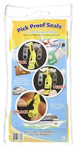 - Pick Proof Seals - TSA Accepted Luggage Locks (3 Packs = 60 Total Seals)