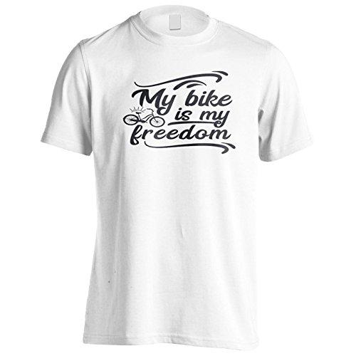 Mein Fahrrad Ist Meine Freiheit In Schwarz Herren T-Shirt n441m