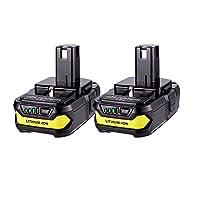 MASIONE 2Pack P102 Batteries 2500mAh Replace for Ryobi 18V Lithium Battery ONE+ P102 P103 P105 P107 P108 P109 P104 Cordless Tools Ryobi 18v Battery