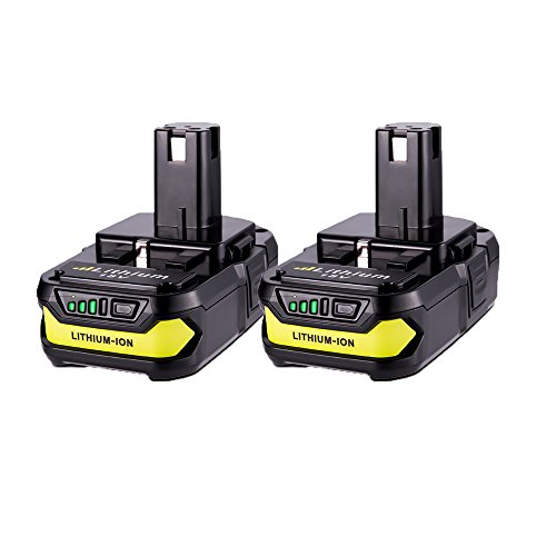 2 Pack 18v P102 Batteries, MASIONE 2000mah Lithium Battery for Ryobi One+ Cordless Power Tools P104 P105 P102 P103 P107 P108
