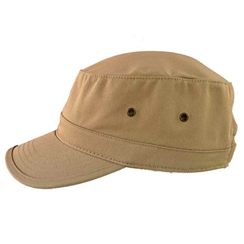 ea3dabe9 Military Style Solid Blank GI Flat Top Cadet Cotton Castro Patrol Fitted  Cap Hat. by bhfc