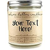 Personalized 8oz Handmade 100% Soy Wax Scented Candle by Silver Dollar Candle Co.