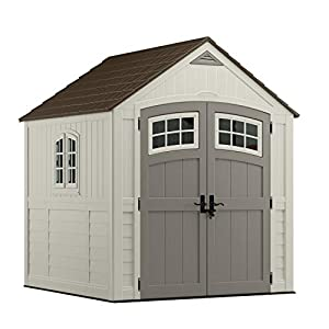 Suncast BMS7790 Premium Large Resin Shed 7ft x 7ft