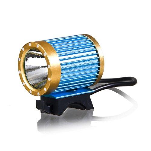 KINFIRE CREE-T6 LED Headlamp Headlight Protable Bicycle Bike Light 18650 Battery AU Plug Charger - Blue and Yellow