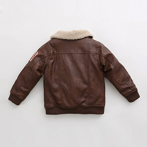 marc janie baby toddler boys u0026 39  military flight leather bomber jacket 24 months coffee