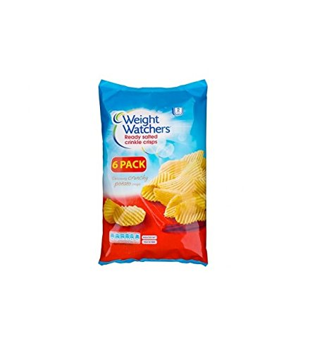 Weight Watchers Ready Salted Crinkle Crisps 96g (6 x 16g)