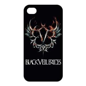 FEEL.Q- Unique Custom TPU Rubber iPhone 4/4S Case Cover - Black Veil Brides