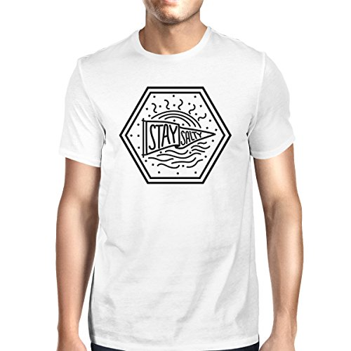 Shirt shirt Printing Salty Homme Courtes Taille White Stay 365 Unique Mens T Manches wpqSOdn17E
