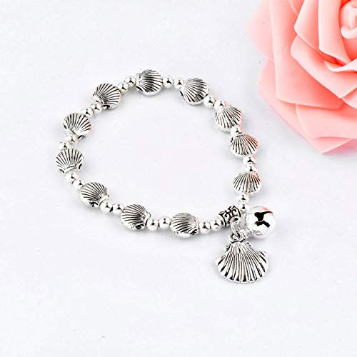 - Best Quality - Strand Bracelets - Vintage Silver Bracelets for Woman Punk Skull Elephant Butterfly Heart Leaf Charm Hand Chain LK9 - by SeedWorld - 1 PCs