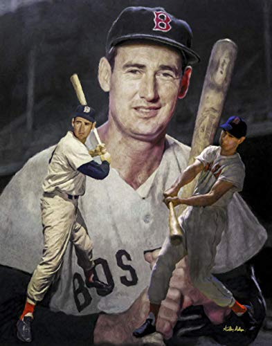 Ted Williams Boston Red Sox MLB Baseball Stadium Field Art Print 11x14-24x30