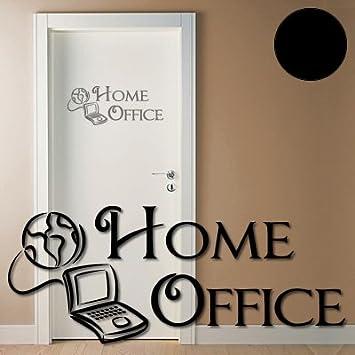 A358 Tur Wandtattoo Home Office 50cm X 20cm Schwarz In 40 Farben