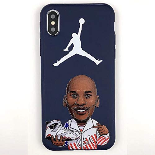 1 piece Phone Case for iphone 6 6S 7 7Plus 8 8Plus X Super star Air Jordan AJ1 Sneakers Embossed Soft Back Cover for iphone XS XR MAX