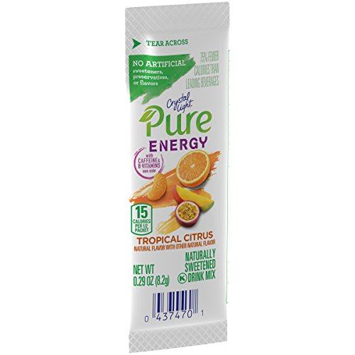 Crystal Light Pure Energy Tropical Citrus Drink Mix (48 On the Go Packets, 8 Boxes of 6) ()