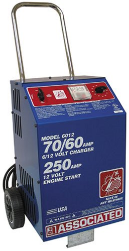 Associated Equipment 6012 6/12 Volt Battery Charger - Heavy Duty Battery Charger