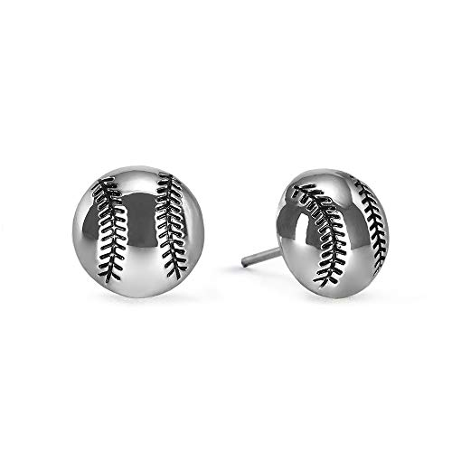 GIMMEDAT Baseball Silver Post Earrings Silver Plated | Lead & Nickel Free