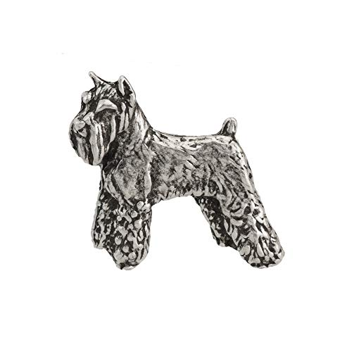 Schnauzer Dog Pewter Mini Lapel Pin, Brooch, Jewelry, ()
