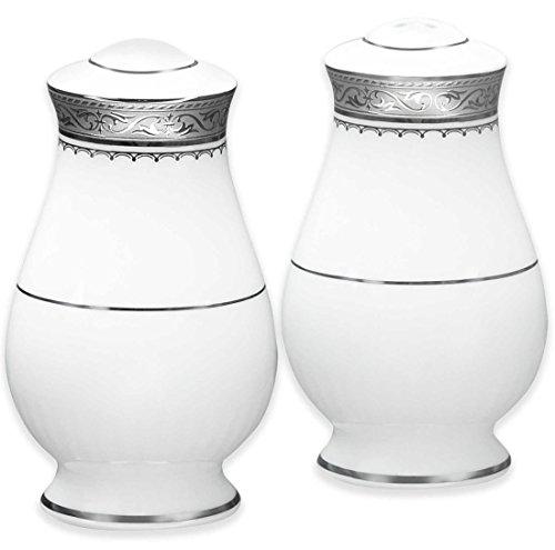 - Noritake Odessa Salt and Pepper, Platinum