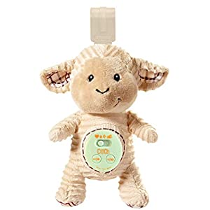 Cinch by dexbaby Plush Mini Lamb – Sleep Aid Womb Sound Soother w/Playard and Crib Attachment