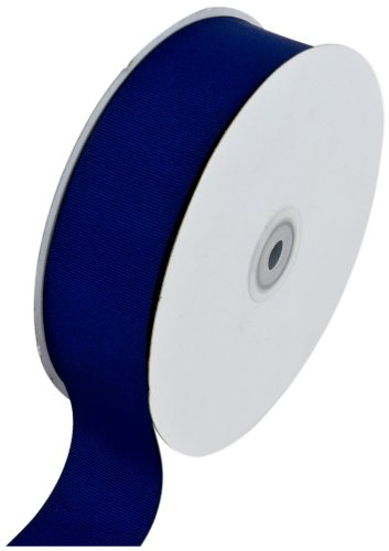 Navy Blue Materials - Creative Ideas Solid Grosgrain Ribbon, 1-1/2-Inch by 50-Yard, Navy Blue