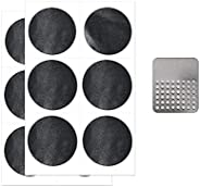 Bike Tire Patch Repair Kit, 12 PCS Self Adhesive Glue Free Tire Patches with Metal Rasp for Road Mountain and