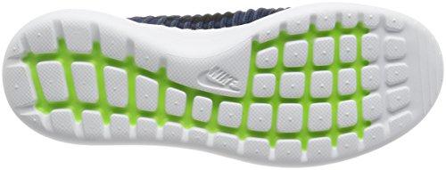 Nike Herre Roshe To Flyknit Løbesko Kollegium Flåde / Sort / Hvid VJ19vOt