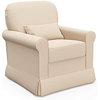 Amazon Com Baby Relax Swivel Glider And Ottoman Beige Baby