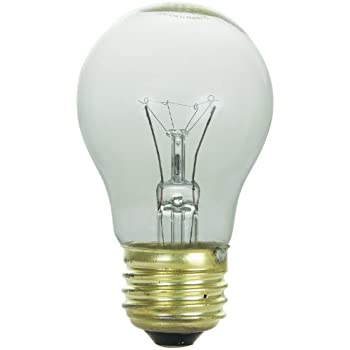 Sunlite 60A15/CL/3/CD1 Incandescent 60-Watt, 130 Volt, Medium Based, A15 Appliance Bulb, Clear