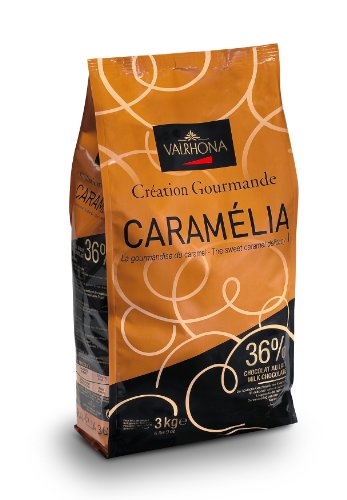 Valrhona Caramel Chocolate Pistoles - Milk, 34%, Caramelia - 1 bag, 6.6 lb