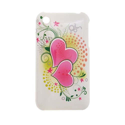 DealMux Plastic Protective Cover w. Heart Pattern Back Case for iPhone 3G