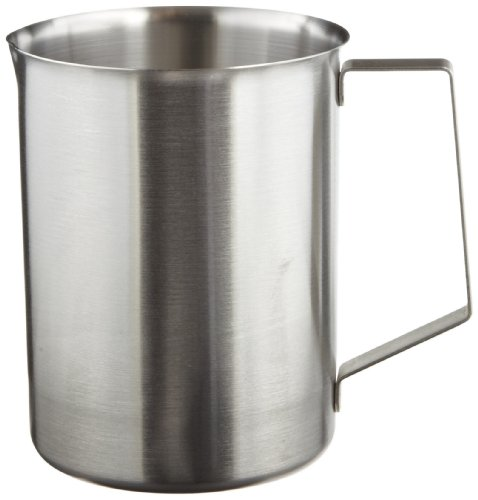 (Polar Ware 2W Stainless Steel Griffin Style Beaker with Handle, 2000 mL Capacity, 5-1/16
