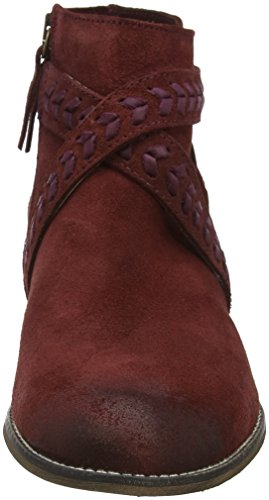 MTNG Burdeos Women's Red Burdeos Vitello Suede Elsa Boots v1prnWvq