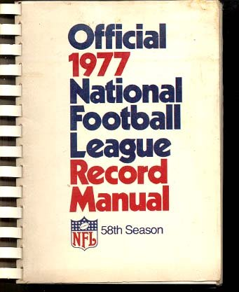 NFL RECORD MANUAL-1977-TONS OF INFO!-L@@K! VG ()